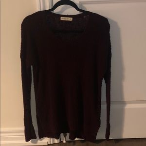Abercrombie & Fitch textured Burgundy sweater